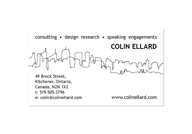Colin Ellard - Business Card